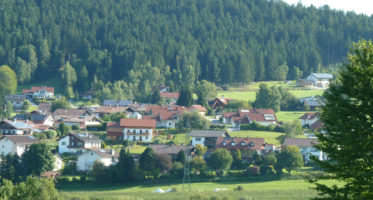 Blick über Giggenried (Gemeindeteil von Zachenberg)