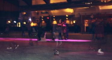 Eislaufen in der Eishalle Regen