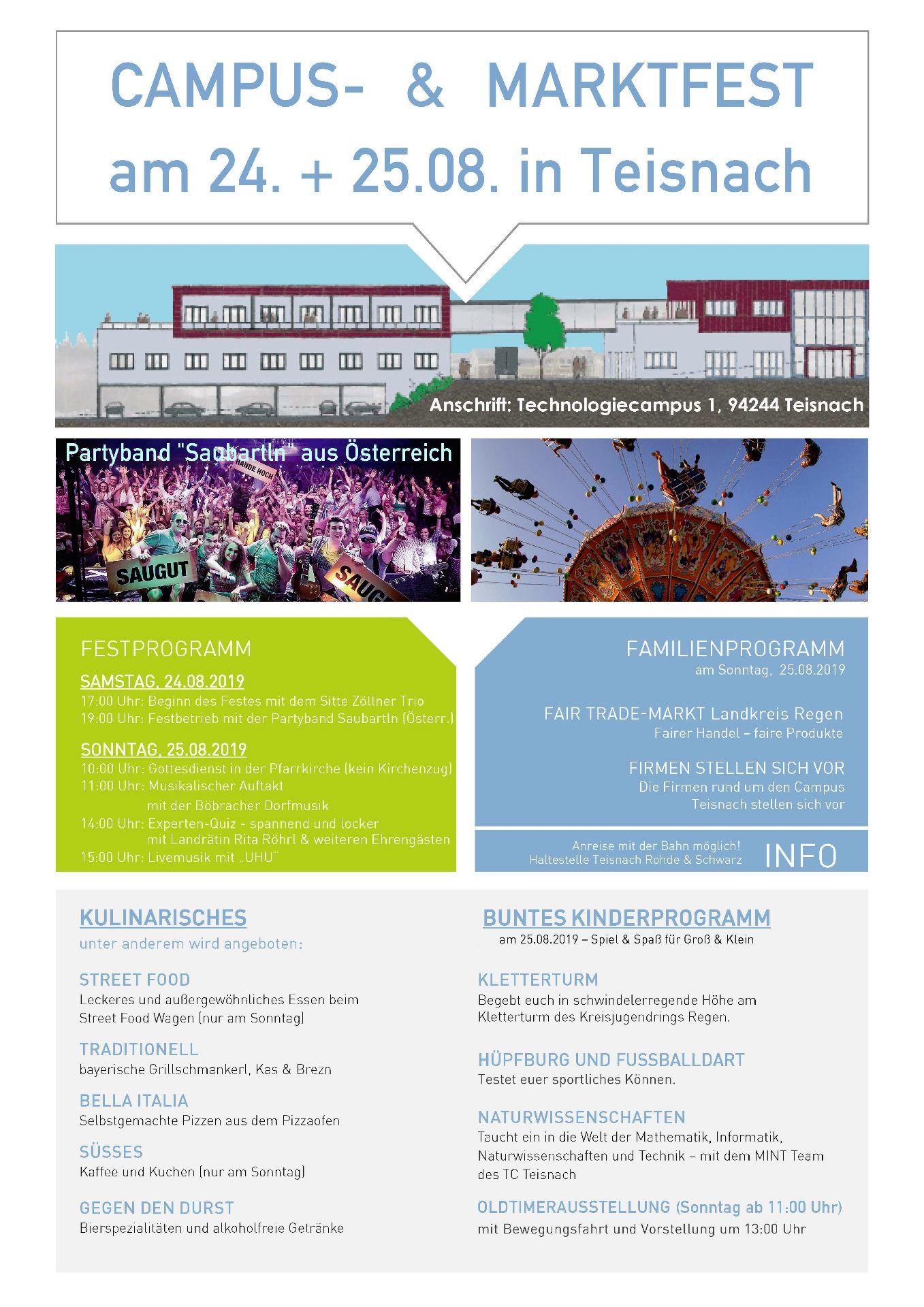 Programm Campus- und Marktfest